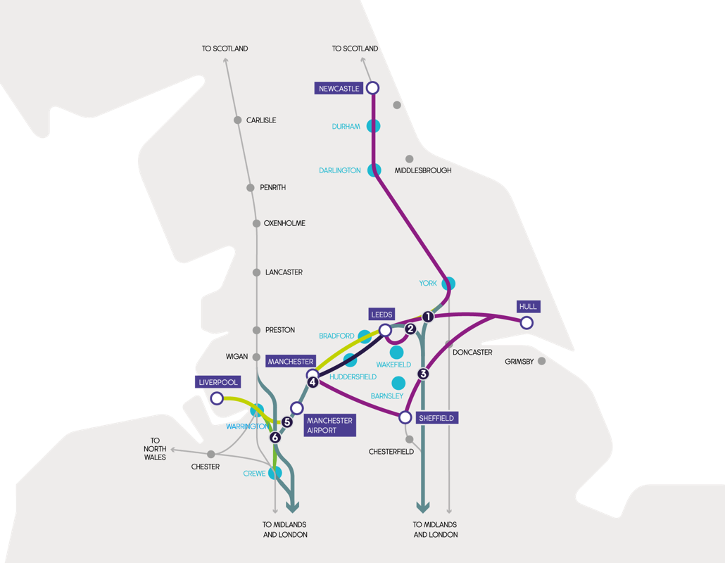 Map of routes